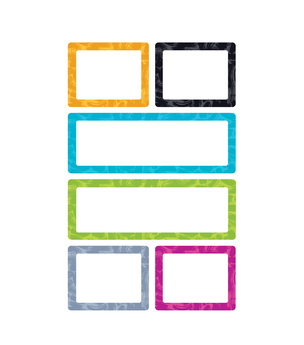 Color Harmony Painted Labels superShapes Stickers-Large 6pk