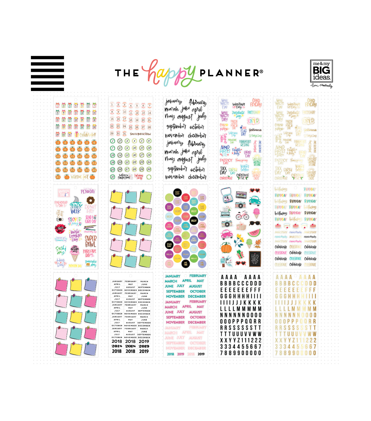 The Happy Planner Happy Memory Keeping Stickers-Dates & Holidays