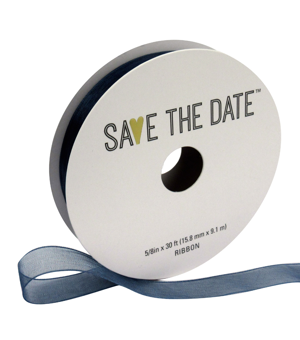 Save the Date 5/8\u0022 x 30ft Ribbon-Cornflower Blue Sheer