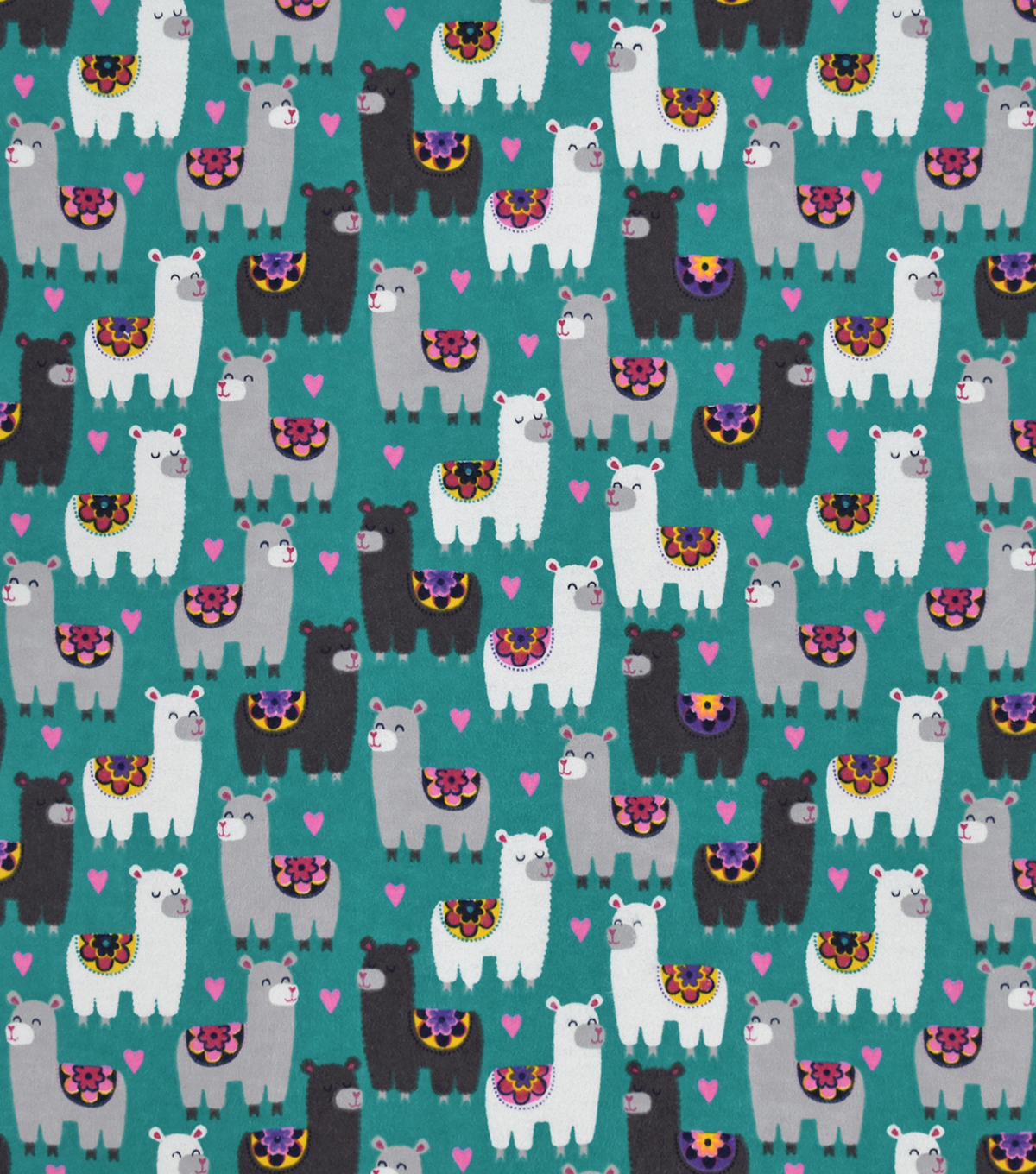 Snuggle Flannel Fabric-Sassy Llamas On Blue