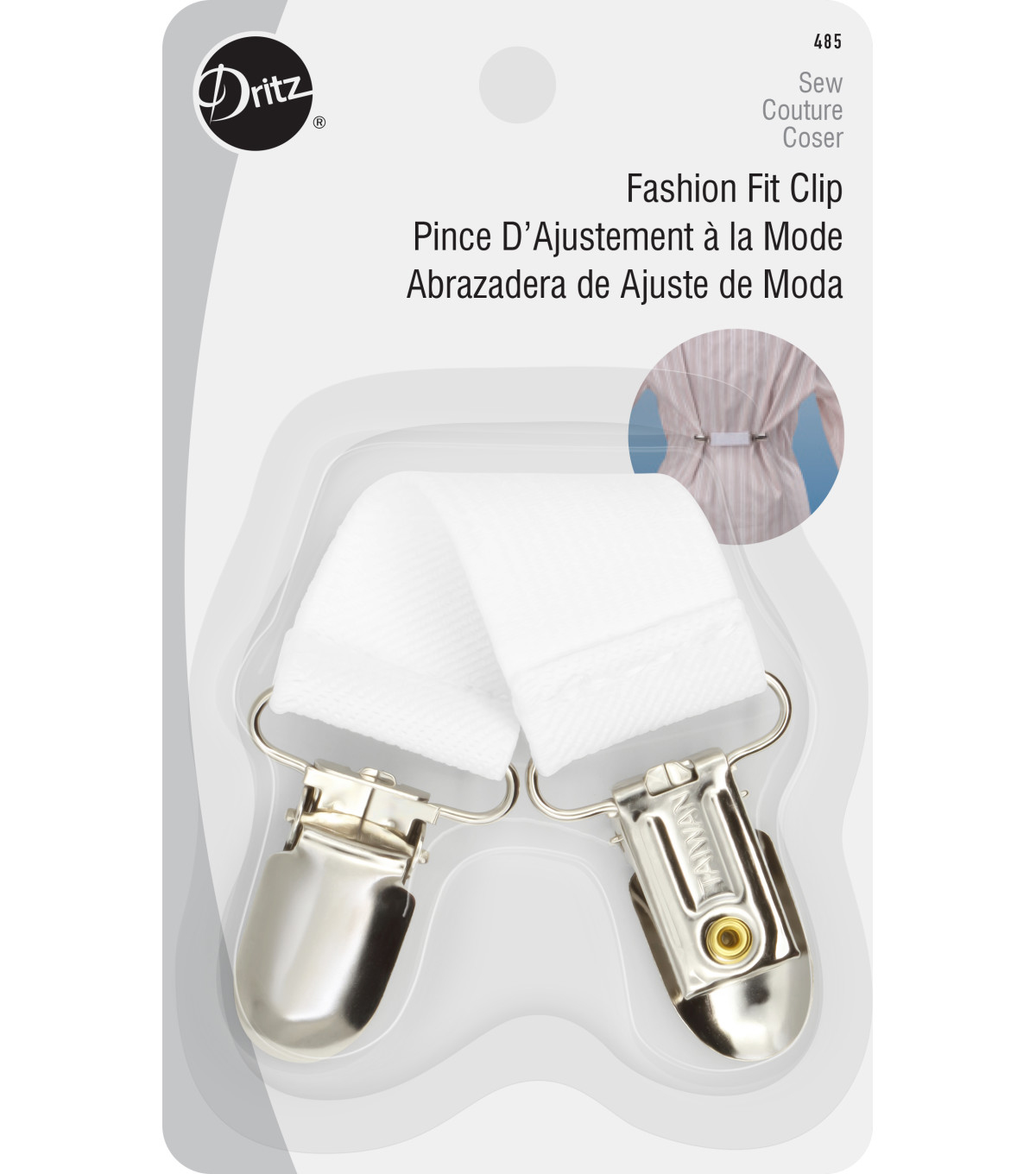 Dritz Fashion Fit Clip White