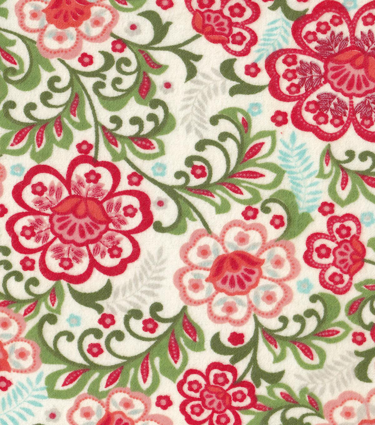 Snuggle Flannel Fabric -Pretty Floral