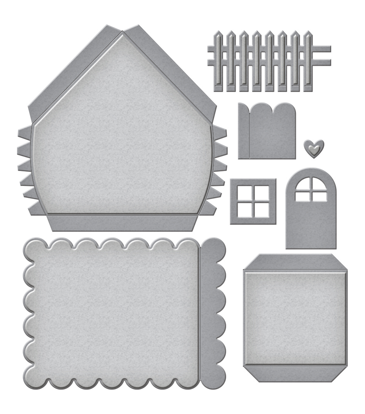 Spellbinders Shapeabilities Etched Die-Build A House