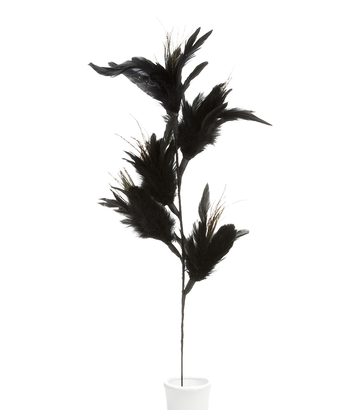 Bloom Room 32\u0022 Feather Floral Spray x 5-Black