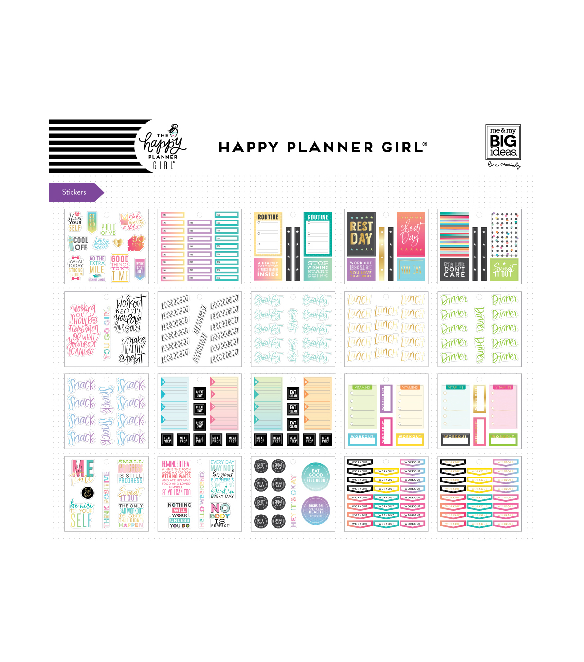 The Happy Planner Girl Multi Accessory Pack - Healthy Hero