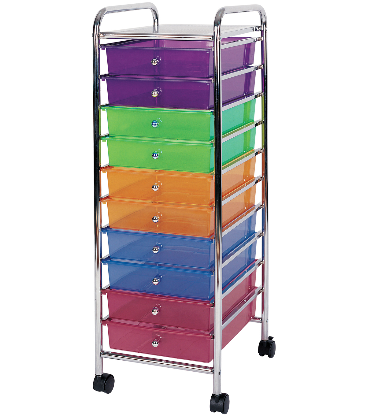 Bon Storage Cart With 10 Drawers Multi Color
