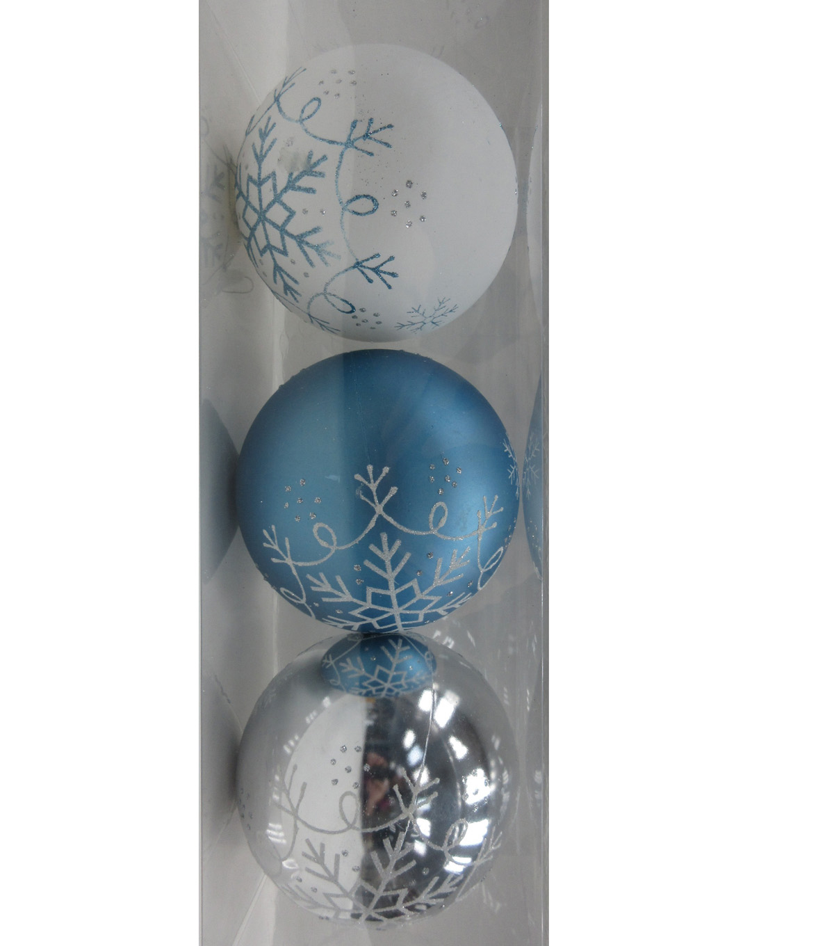 Maker\u0027s Holiday Christmas Arctic Frost 3 pk 120 mm Boxed Ornaments