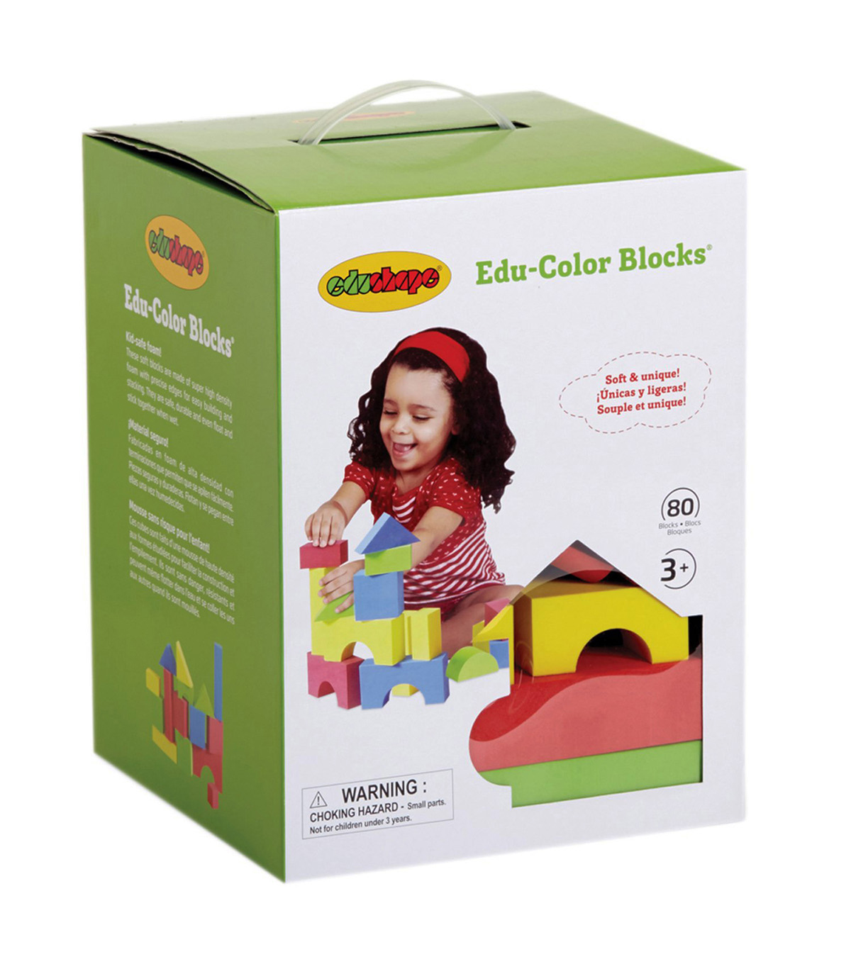 Edushape Edu-Color Building Blocks, 80 Pieces