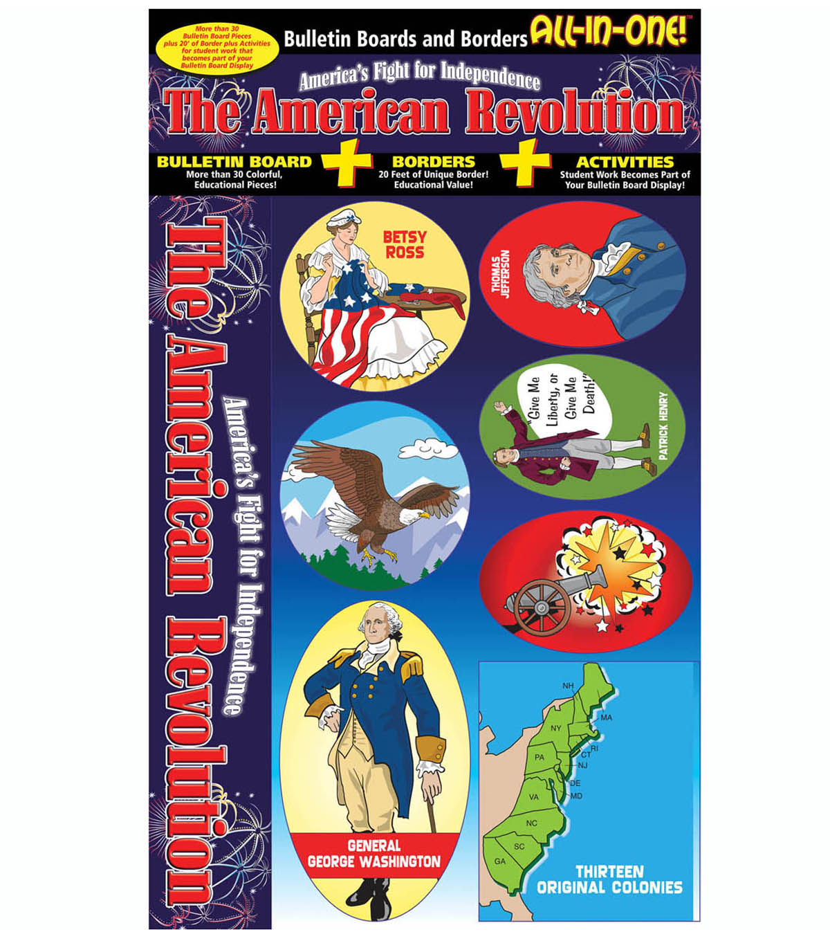 American Revolution All-In-One Bulletin Board Set