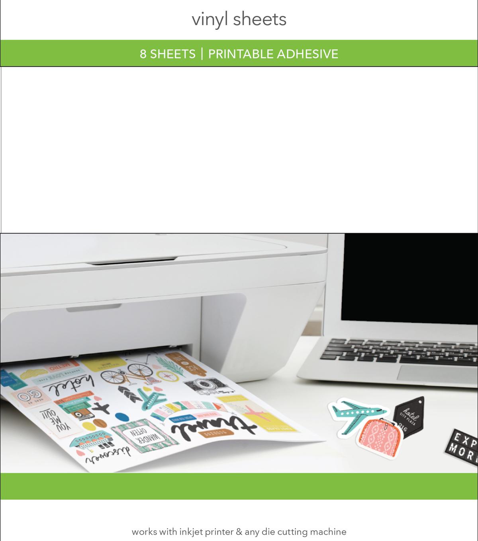 graphic relating to Printable Vinyl named Printable Adhesive Vinyl Sheets 8 pk