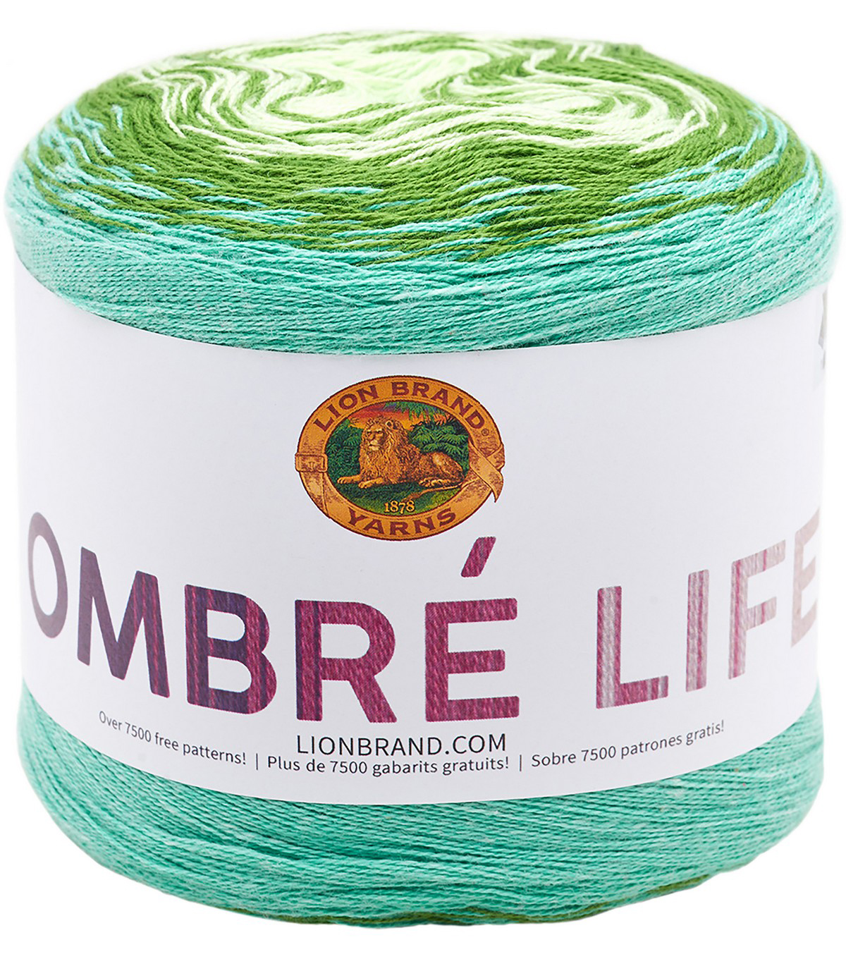 Lion Brand Ombre Life Yarn, Walk In The Park
