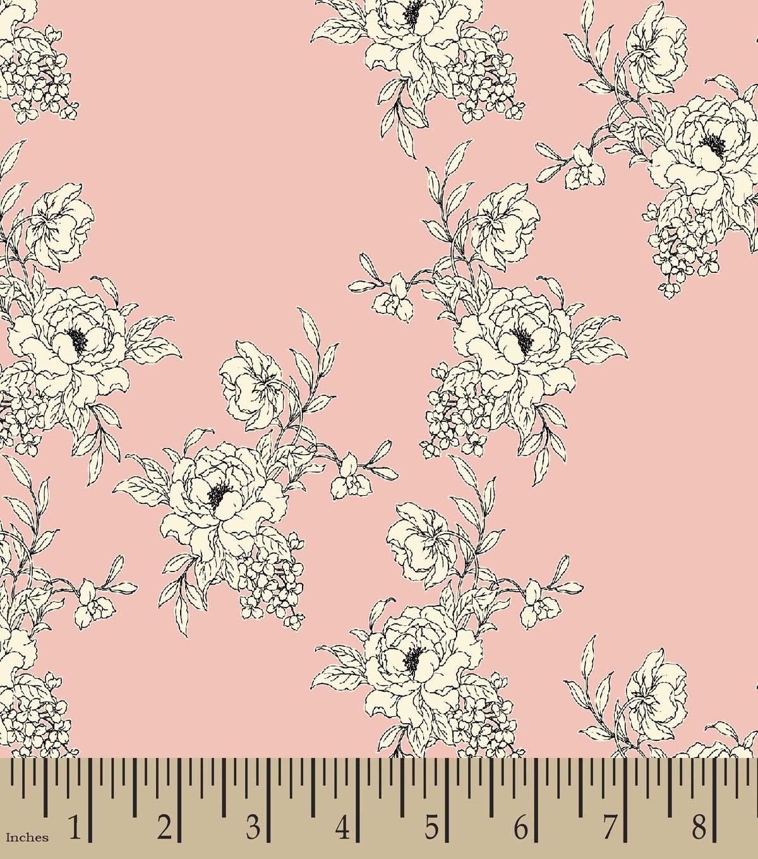 Pink White Flowers Print Fabric Joann