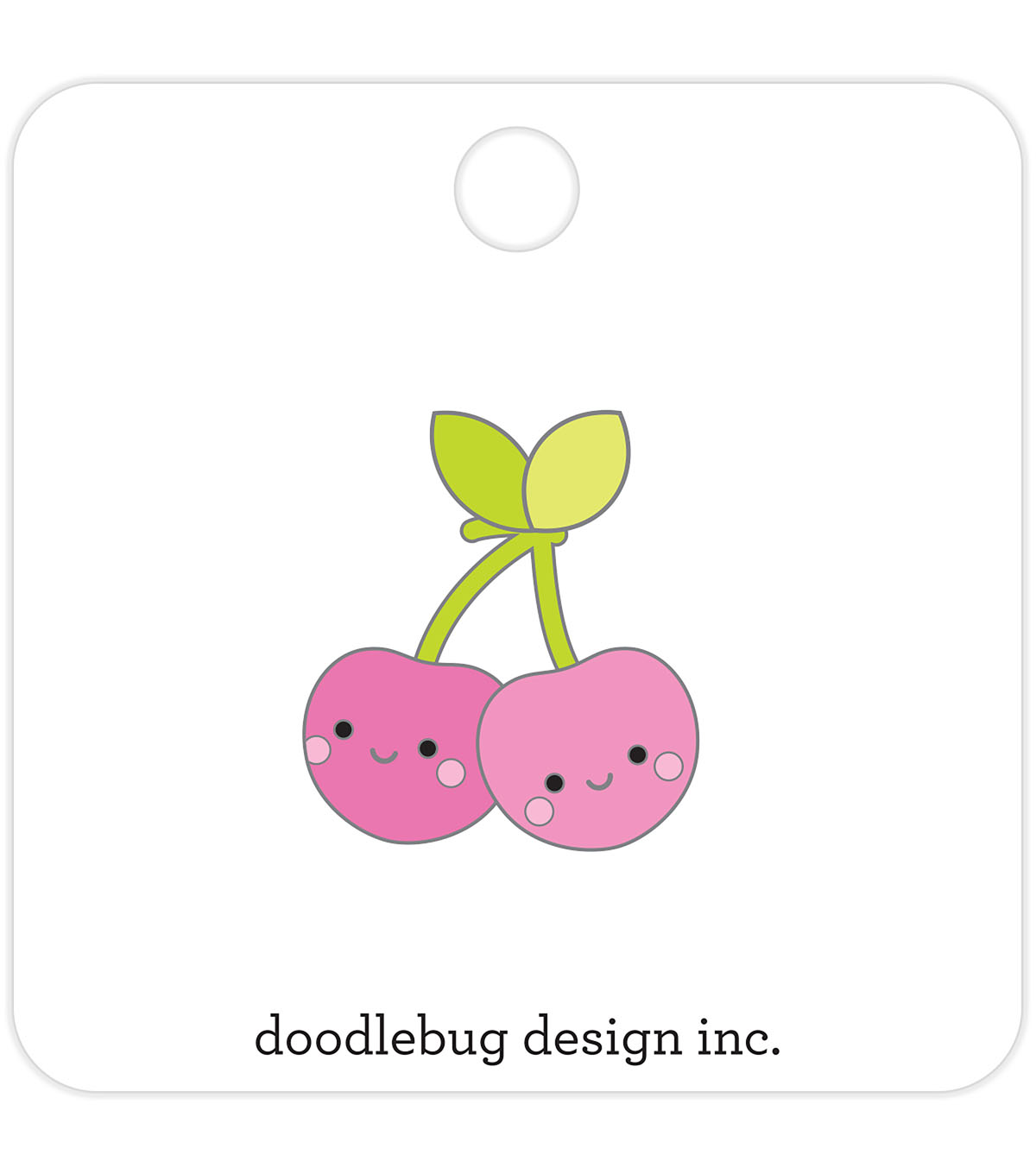 Doodlebug Design Collectible Enamel Pin-Cheery Cherries