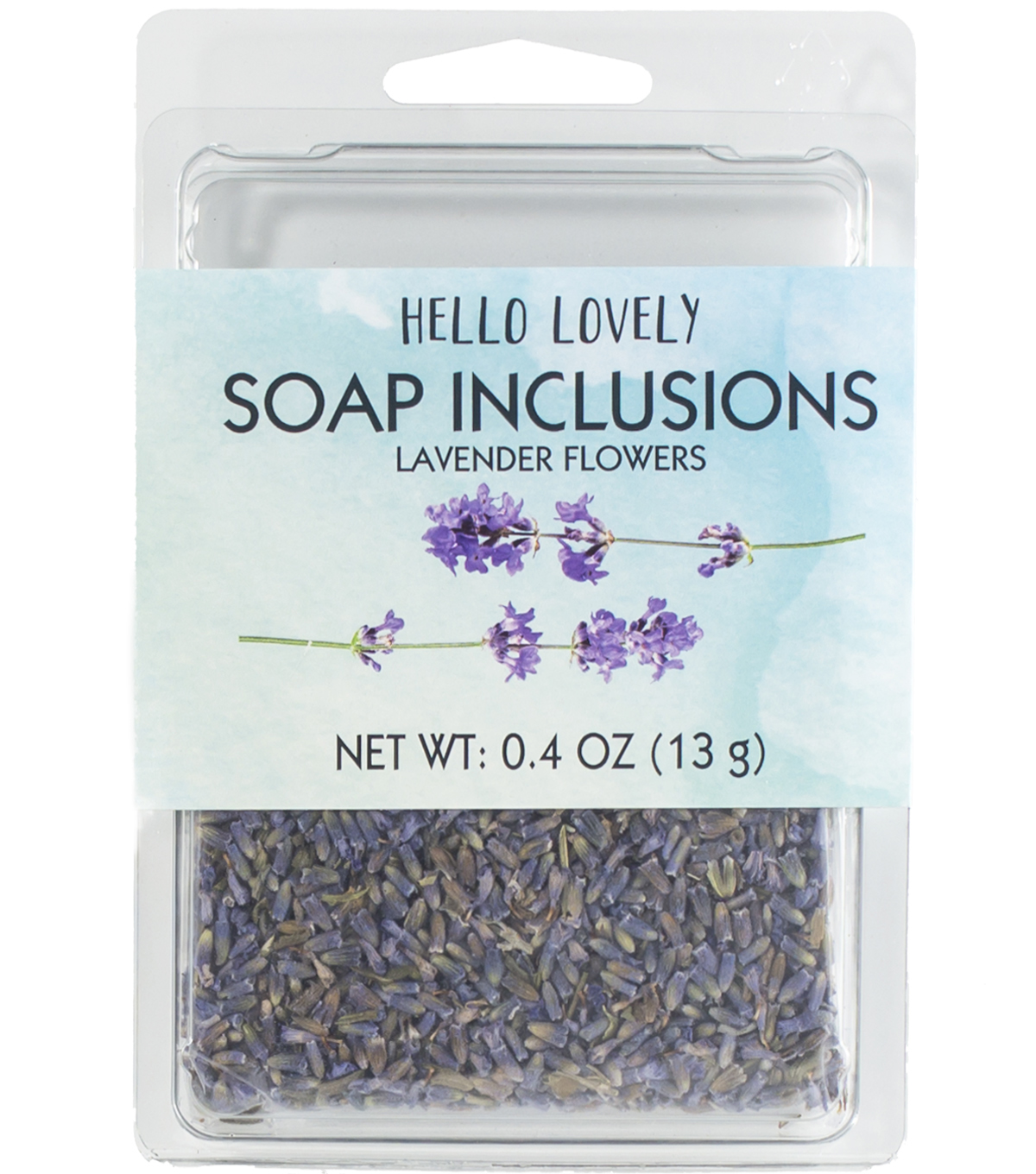 Hello Lovely 0.4 oz. Beauty Soap Inclusions Lavender Flowers