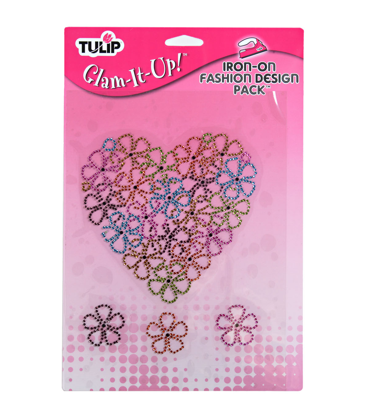 Tulip Glam-It-Up! Iron-On Designs-Large Flower Heart