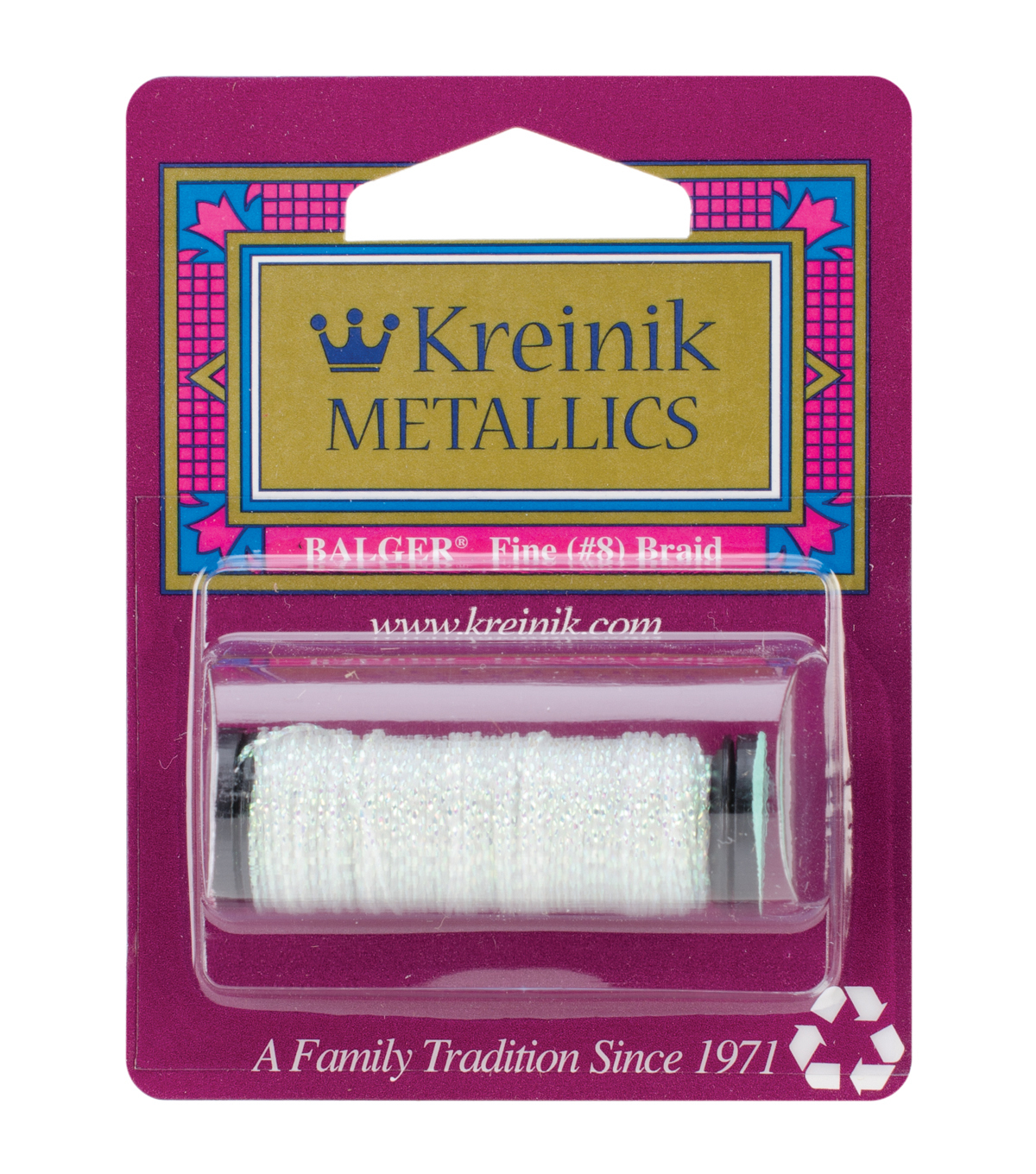 Kreinik Fine Metallic Braid #8 Easter