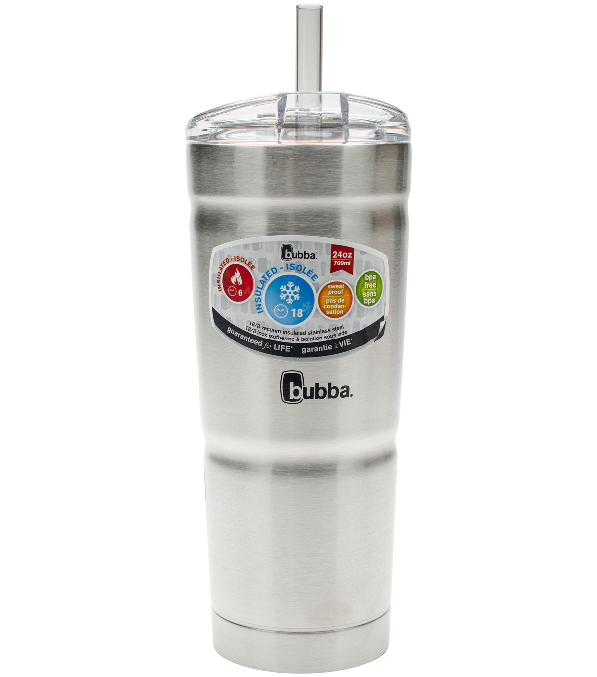 bubba envy 24 oz double wall insulated with straw water bottle