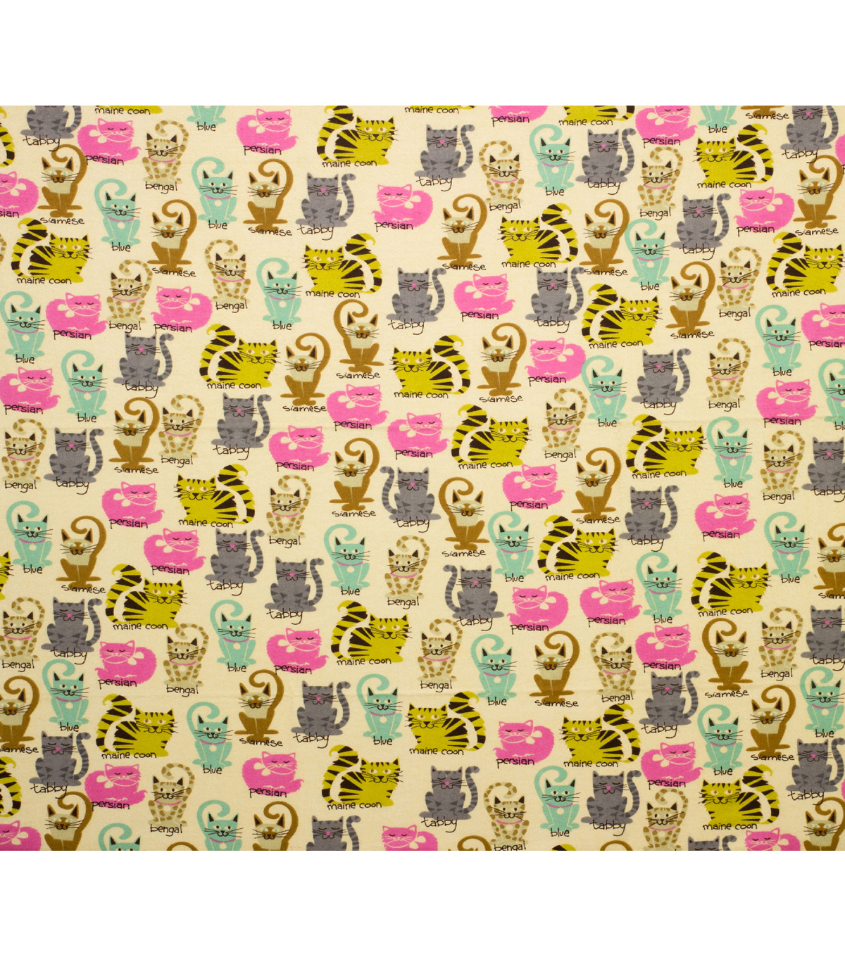 Super Snuggle Flannel Fabric-Kitties