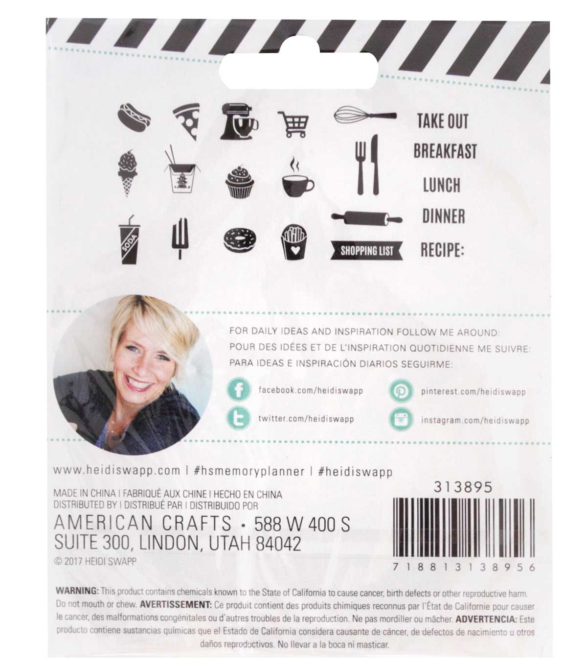 Heidi Swapp Fresh Start Clear Stamps-Food
