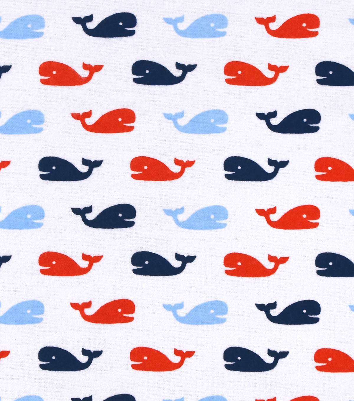 Nursery Flannel Fabric 42\u0022-Nautical Whales