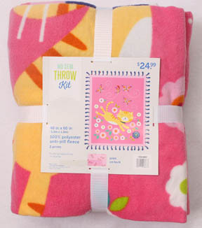No Sew Fleece Throw 48\u0022-Cats & Flowers