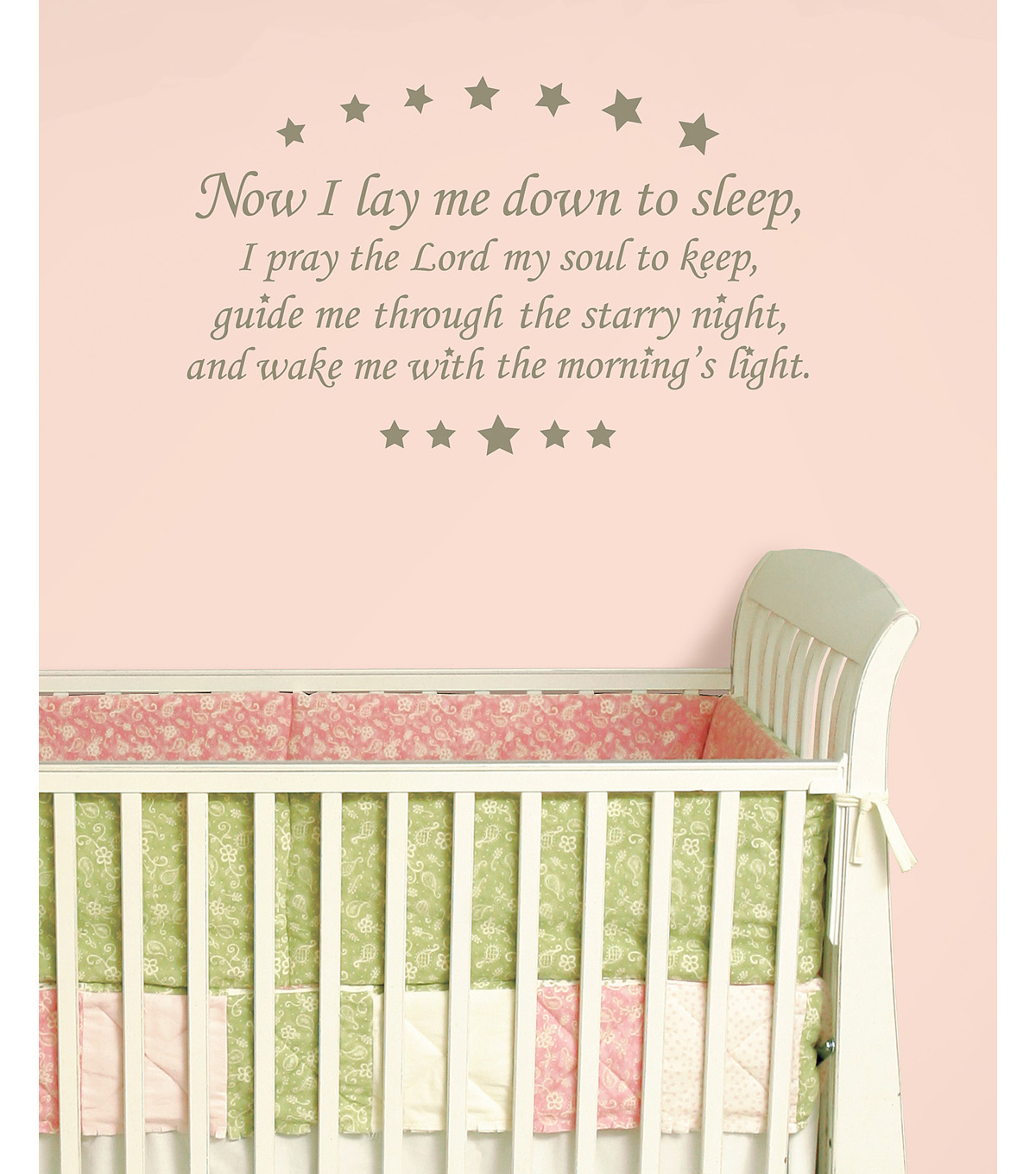Wall Pops Now I Lay Me Down Wall Phrase Decals, 38.5\u0022 x 24\u0022