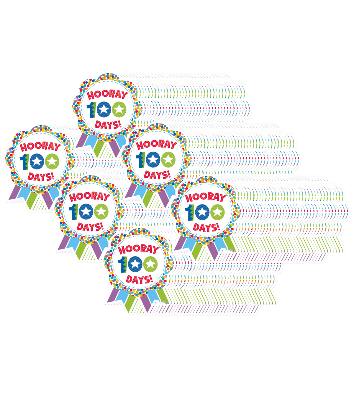 Creative Teaching Press Hooray for 100 Days Ribbon Reward, 36 Per Pack