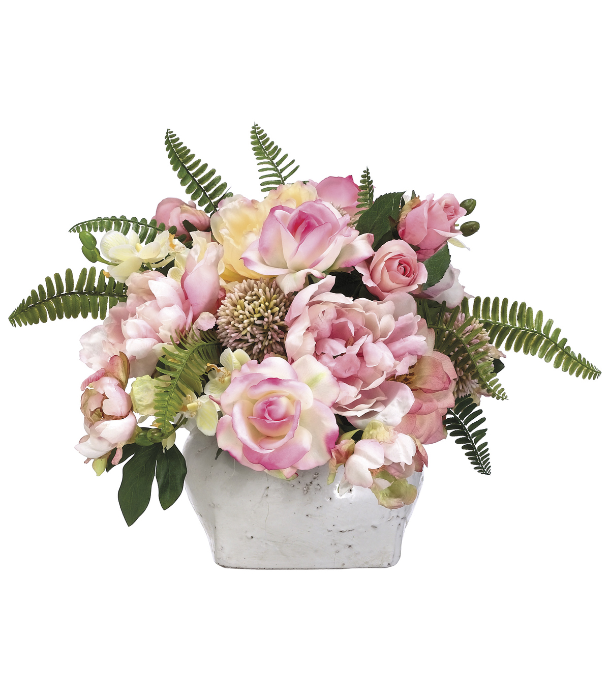 Bloom Room Luxe 14\u0027\u0027 Rose, Peony, Allium & Hydrangea In Pot-Pink
