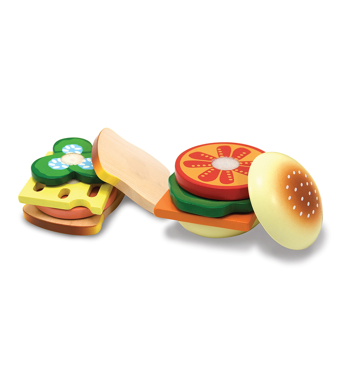 Sandwich-Making Wooden Play Food Set