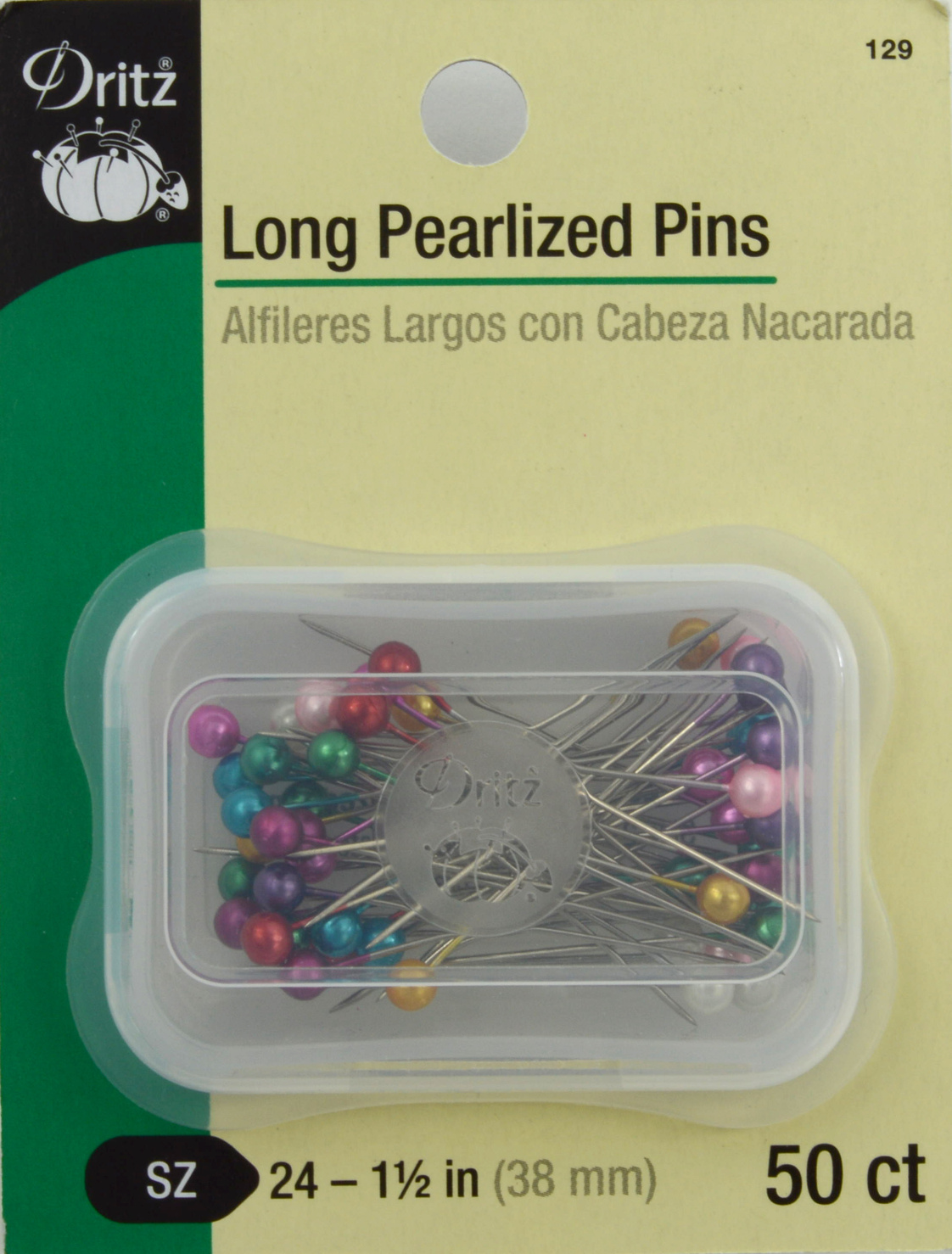 Long Pearlized Pins-Size 24 50/Pkg