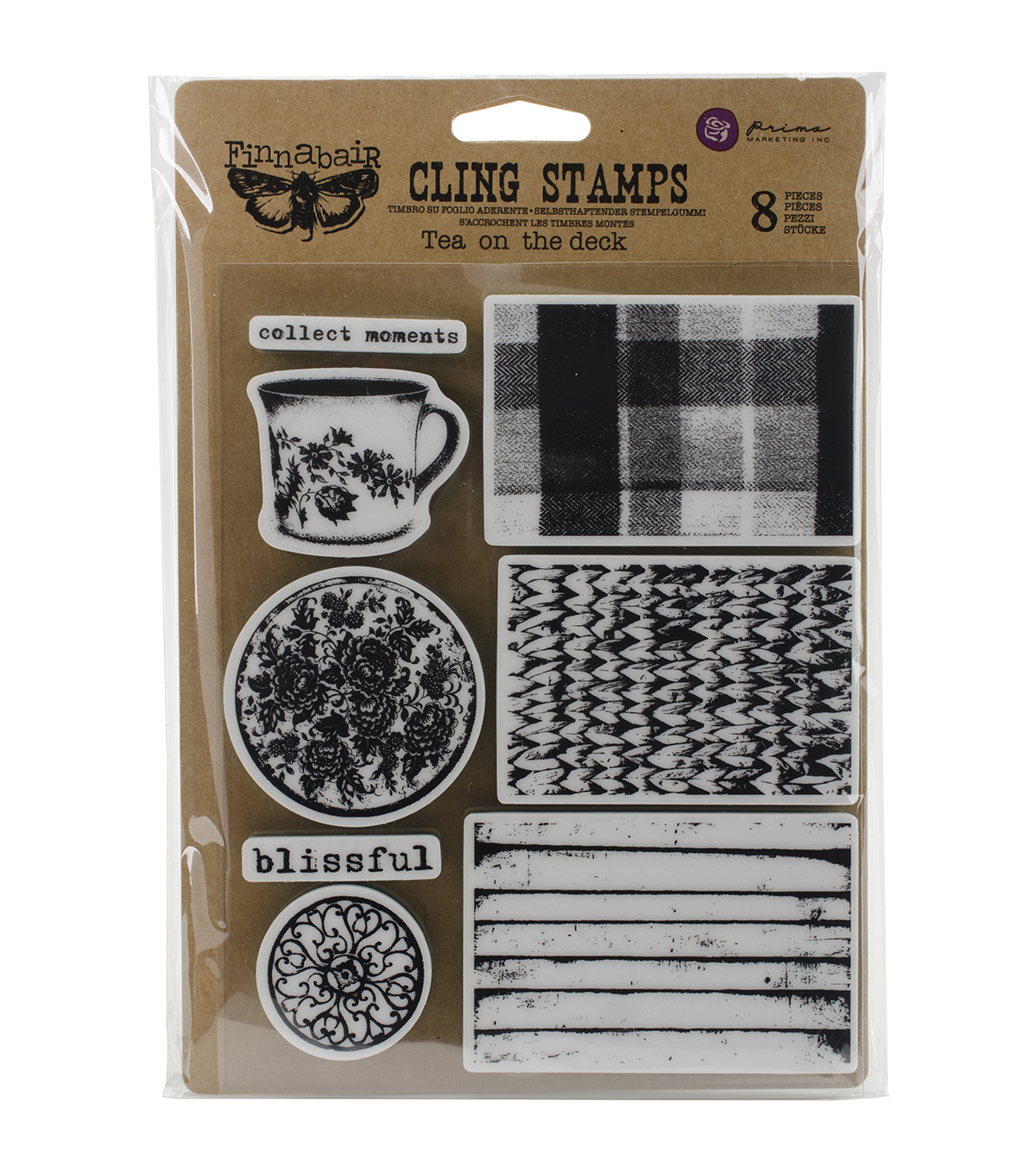 Prima Marketing Finnabair Tea On Deck Cling Stamps