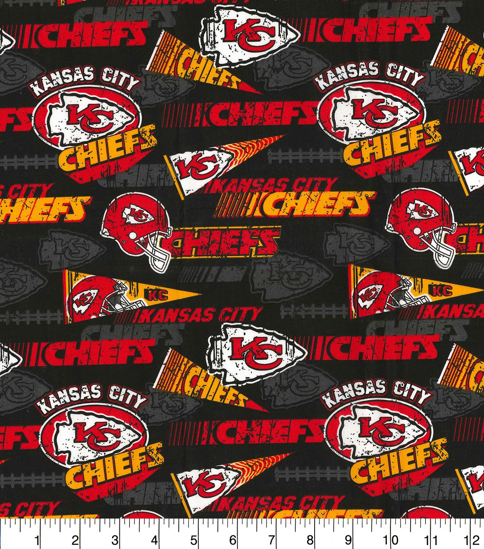 9287ecd31 Kansas City Chiefs Cotton Fabric-Retro