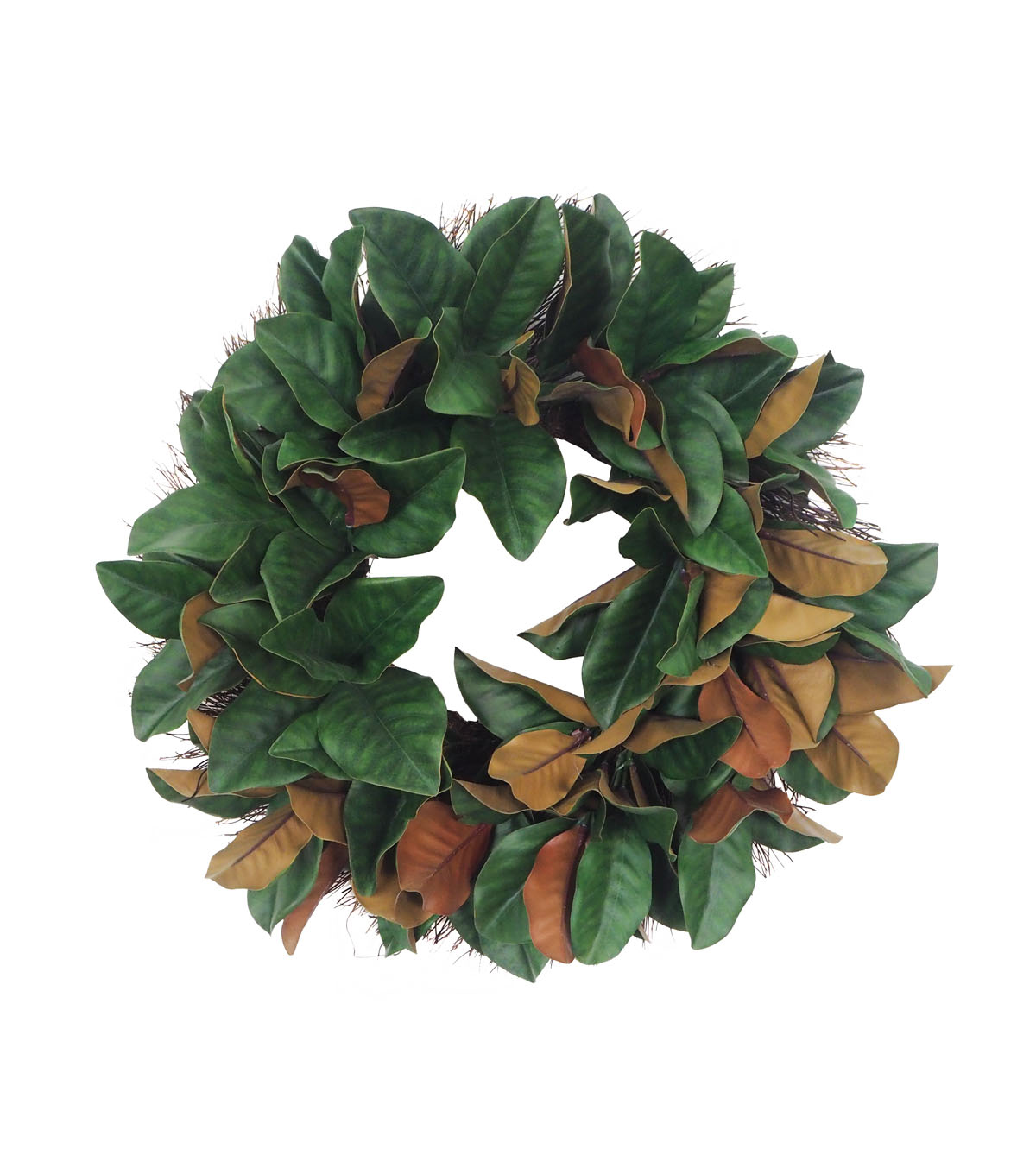 Blooming Holiday Christmas Farm Large Magnolia Leaves Wreath