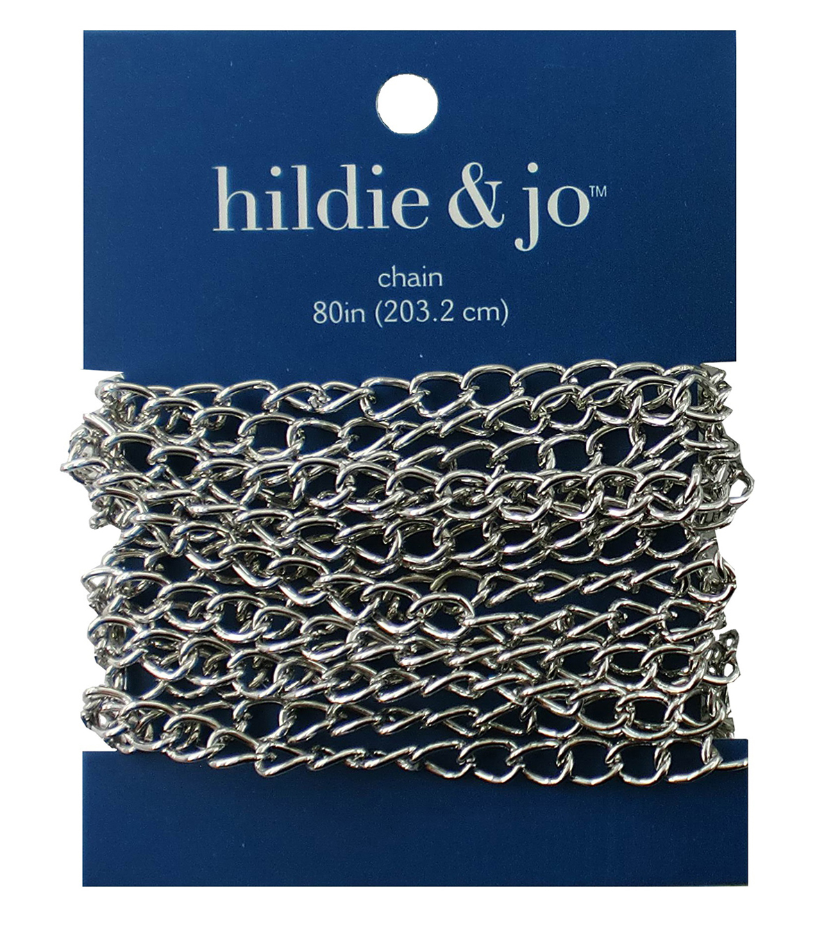 Blue Moon Large Wide Curb Chain-80\u0022 Silver