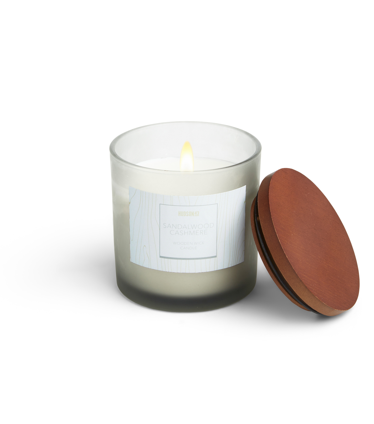 Haven St. 12oz Wooden Wick Jar Candle-Sandalwood Cashmere