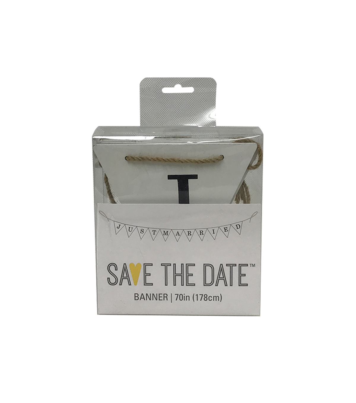 Save the Date 70\u0027\u0027 Banner-Just Married