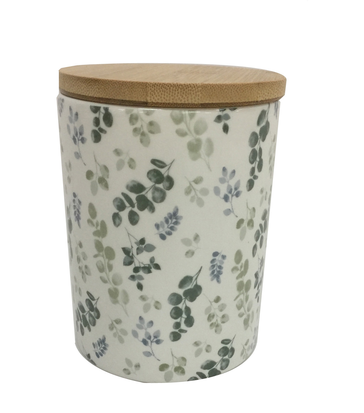 Simply Spring Small Ceramic Canister-Greenery