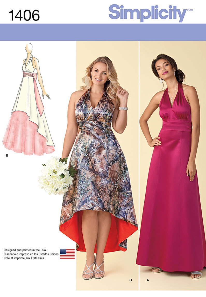 Simplicity Pattern 1406AA 10-12-14-1-Misses Special Occas