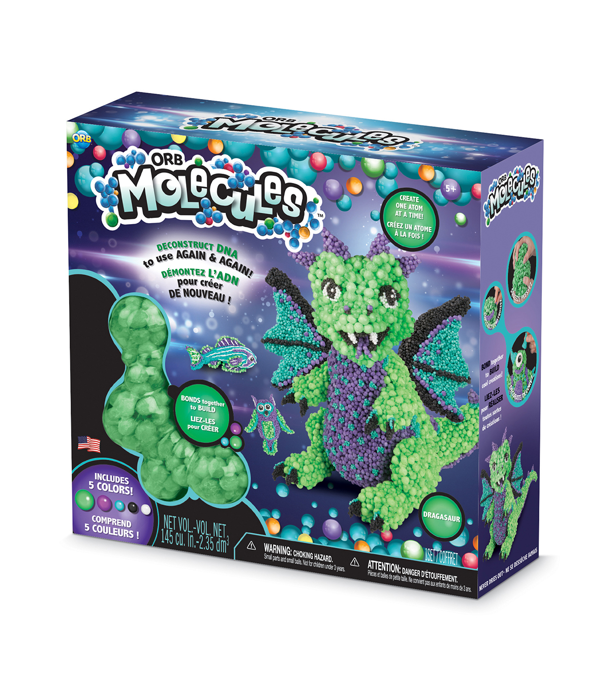The Orb Factory ORBMolecules Dragasaur Activity Kit