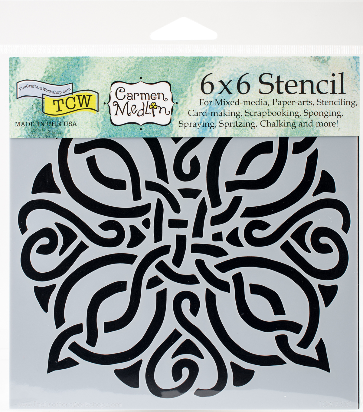 Crafter\u0027s Workshop Carmen Medlin Template 6\u0027\u0027x6\u0027\u0027-Celtic Knot