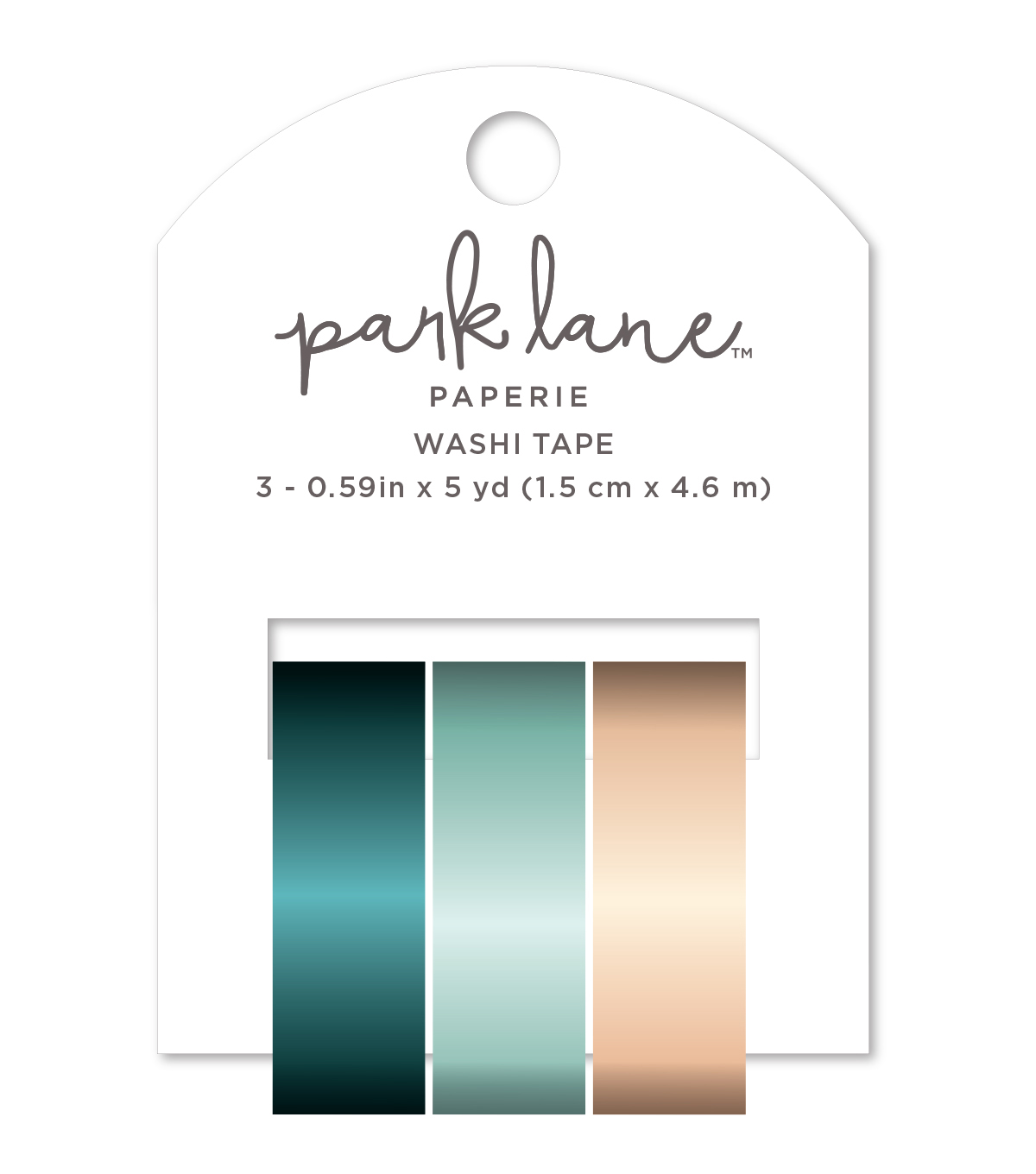 Park Lane Washi Tape 3/Pkg-Mermaid Foil