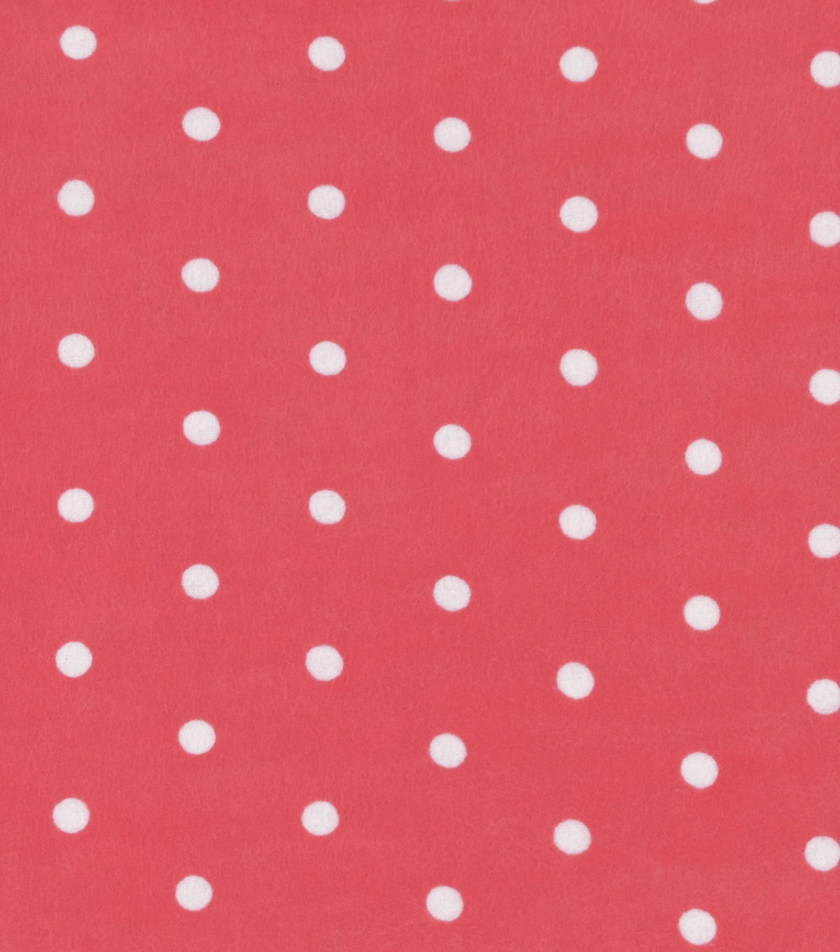 Snuggle Flannel Fabric -Dots on Coral