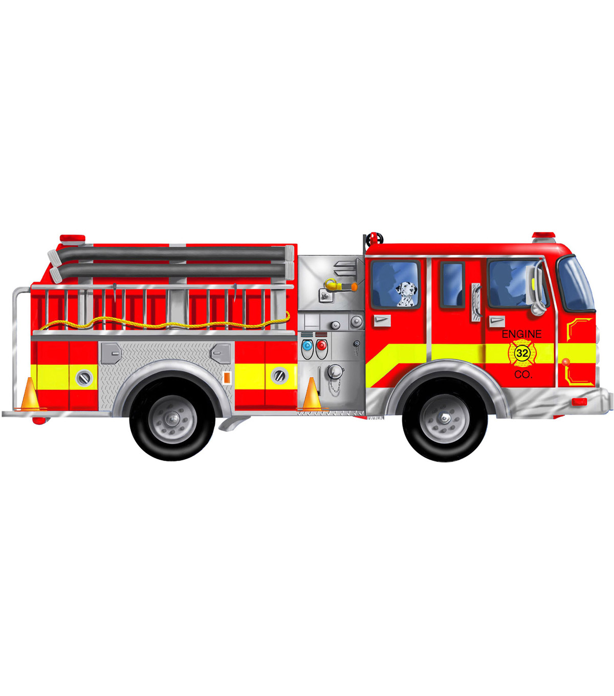 Giant Fire Truck Floor Puzzle - 24 Pieces