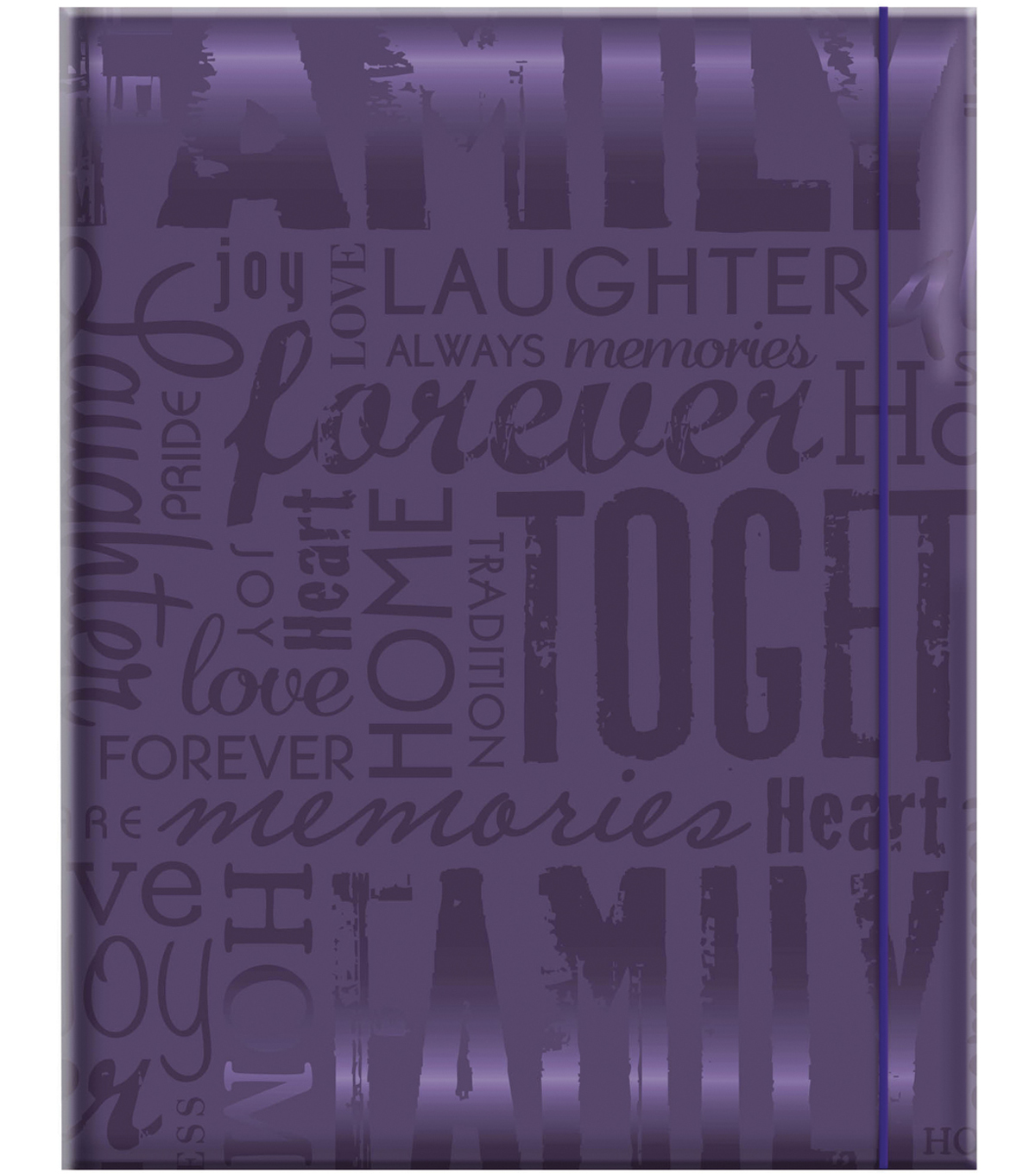 MBI Embossed Gloss Expressions Photo Album-Deep Purple Family