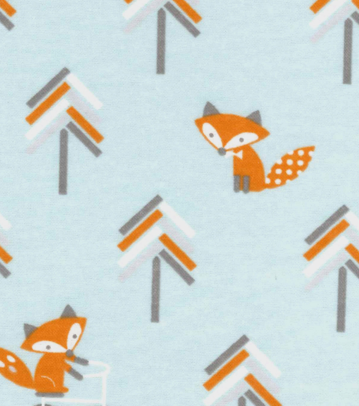 Nursery Flannel Fabric -Little Fox Bicycle