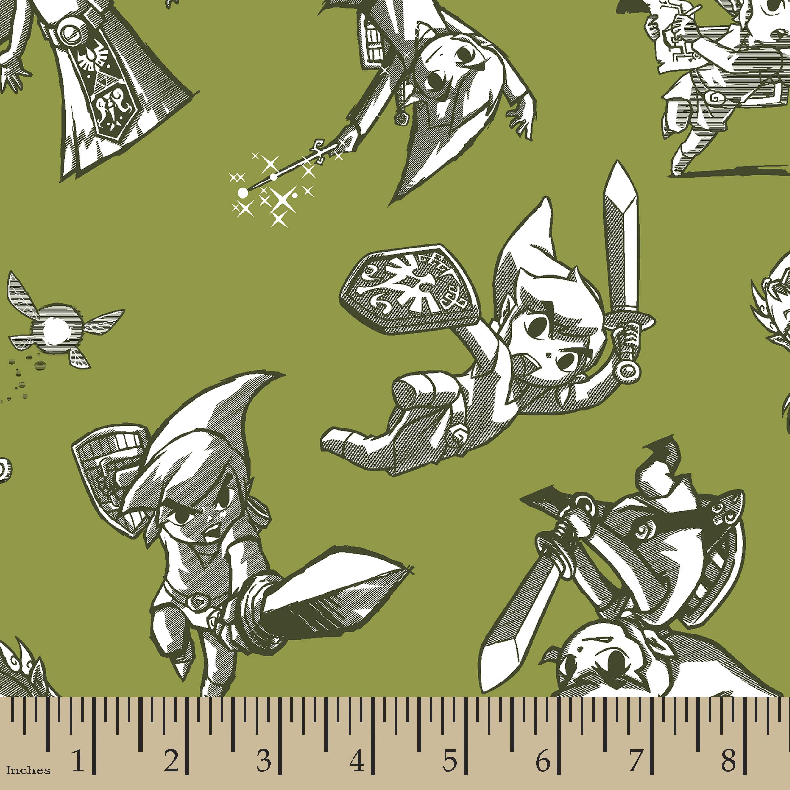 Nintendo The Legend of Zelda Print Fabric