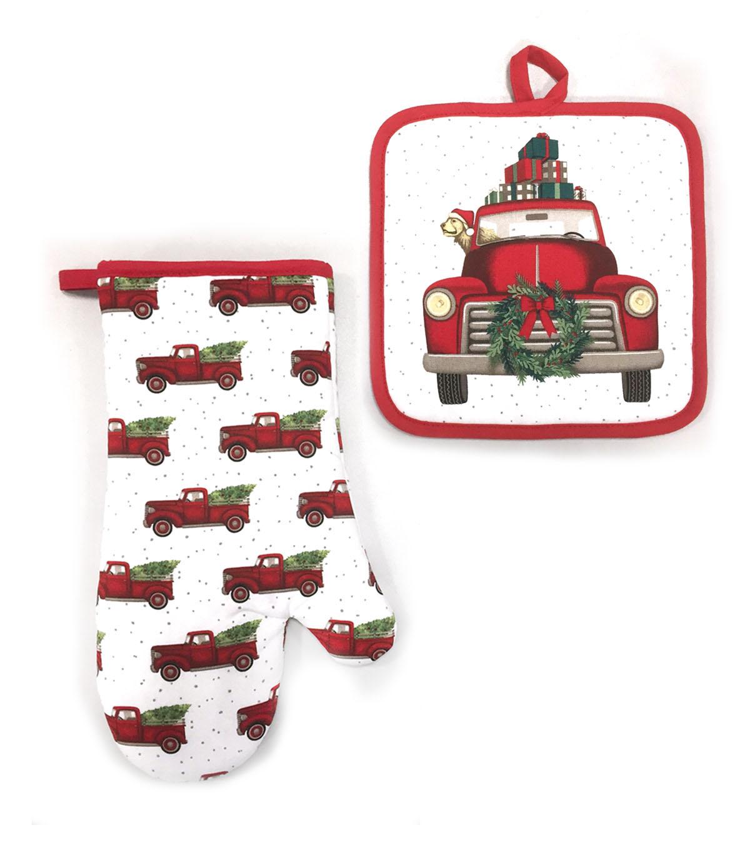 0734d39747a Maker u0027s Holiday Christmas Oven Mitt   Pot Holder-Truck