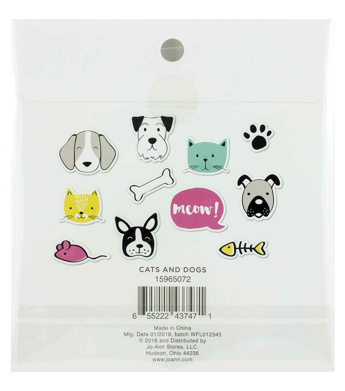 Park Lane Paperie 86 pk Washi Flakes-Cats & Dogs