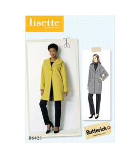 Butterick Pattern B6423 Misses\u0027 Drop-Shoulder, Collar Coat-Size 4-14