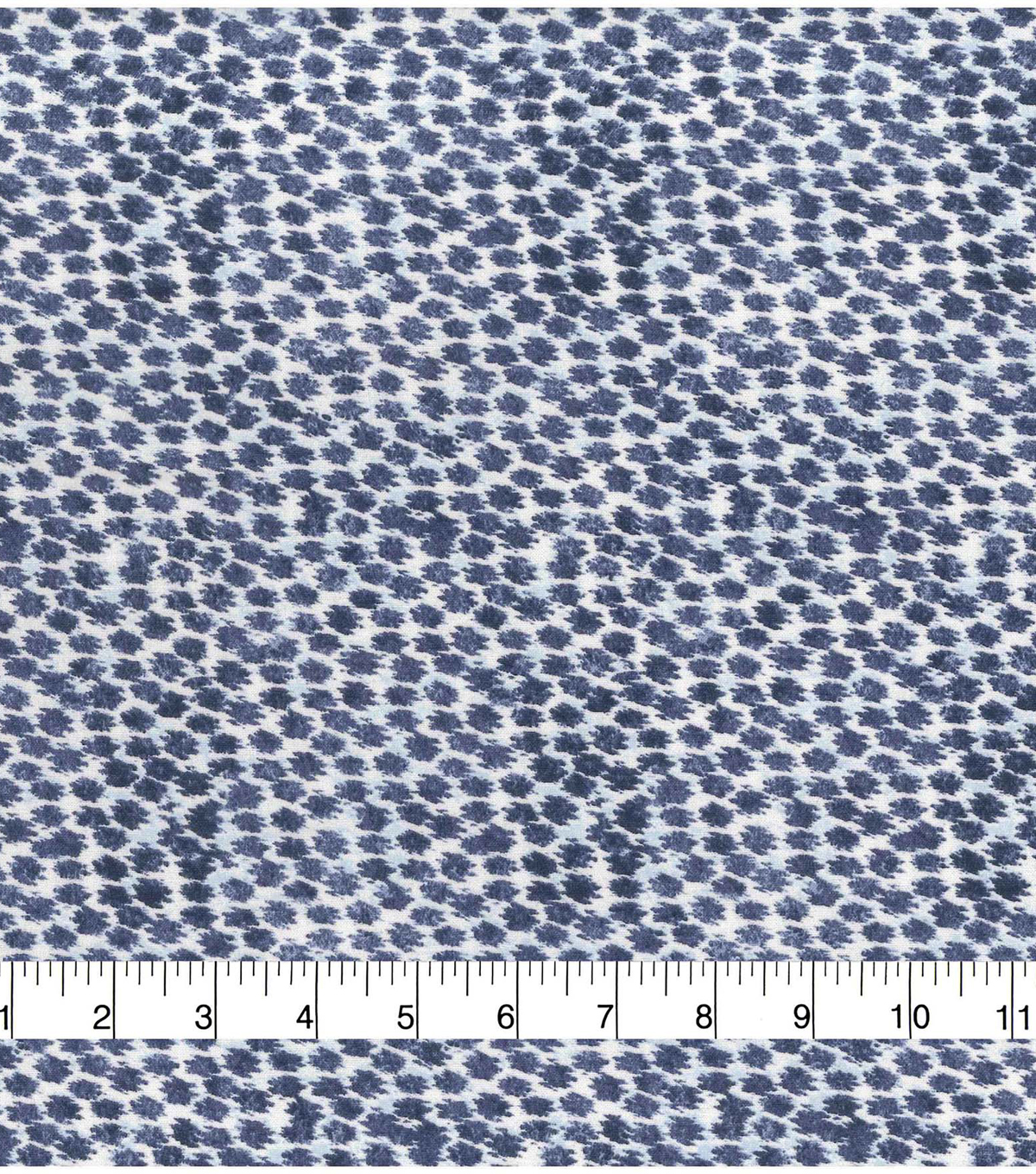 Keepsake Calico Cotton Fabric-Navy Smeared Dots
